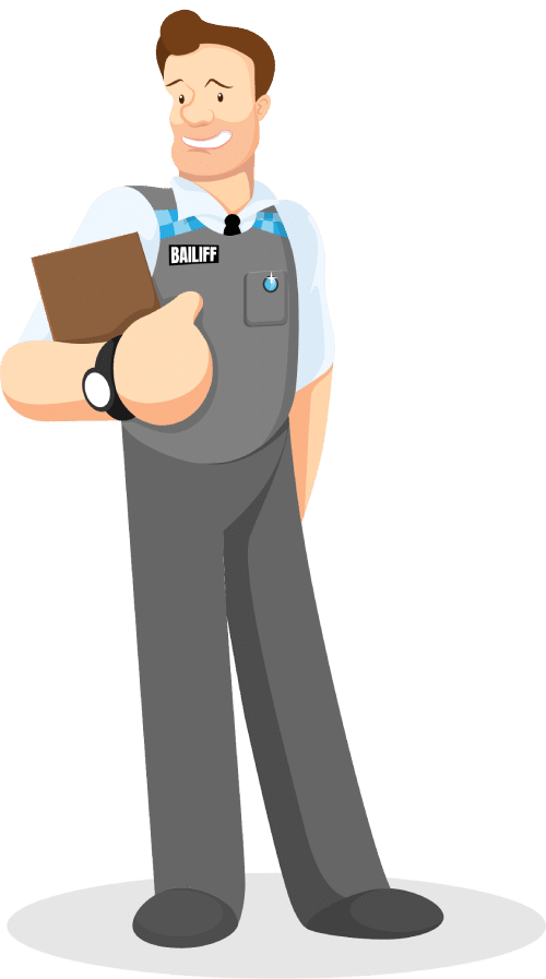 Bailiff Character Illustration